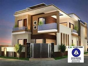 2000, Square, Feet, 4bhk, Double, Floor, Contemporary, Home
