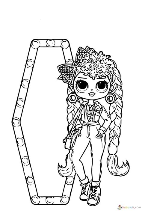 omg dolls coloring pages coloring home
