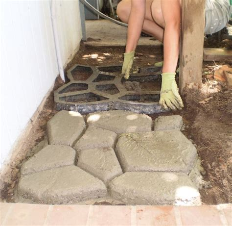 paver forms using concrete paving forms to create paths and patios