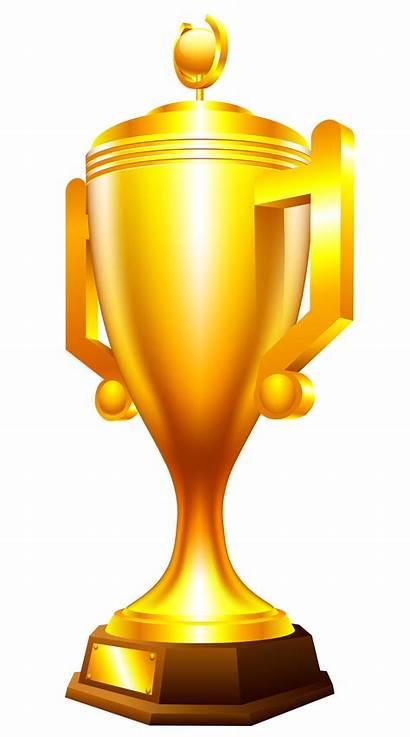 Trophy Cup Transparent Golden Gold Clipart 3d