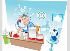 Gestresste Menschen in einem Büro arbeiten Vektorgrafik