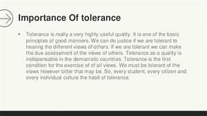 tolerant society essay