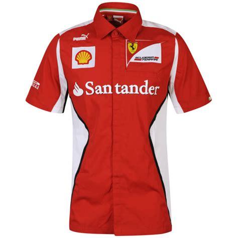 ferrari clothing puma men 39 s ferrari team shirt rosso corsa mens clothing