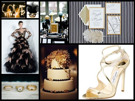 glamorous gold black white inspiration fantastical
