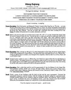 resume for photography business owner milton中英文简历工作室 简历样本 技术类简历英文样本