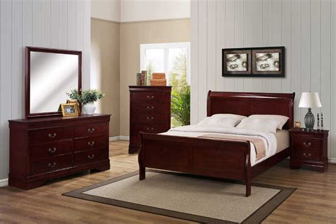 Cherry Wood Bedroom Set by Cherry Bedroom Set The Furniture Shack Discount