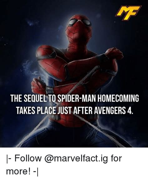 Sequel Memes - the sequel to spider man homecoming takes place just after avengers4 follow for more
