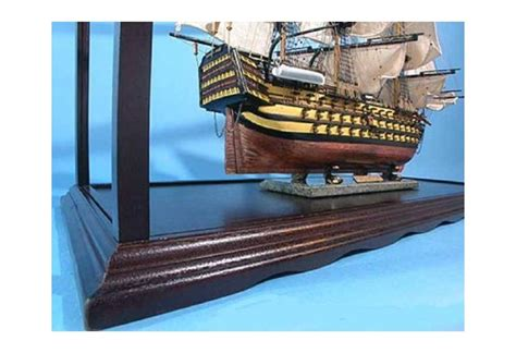 wooden display case  tall ship model