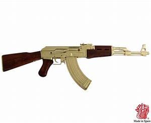 AK 47 ASSAULT RIFLE WITH GOLD FINISH