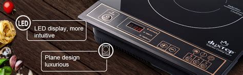 amazoncom duxtop  portable induction cooktop countertop burner gold kitchen dining
