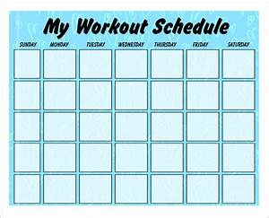 Weekly workout schedule template invitation template for Weekly fitness plan template