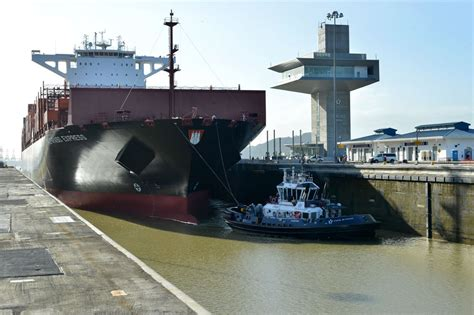 panama canal welcomes largest capacity vessel to date