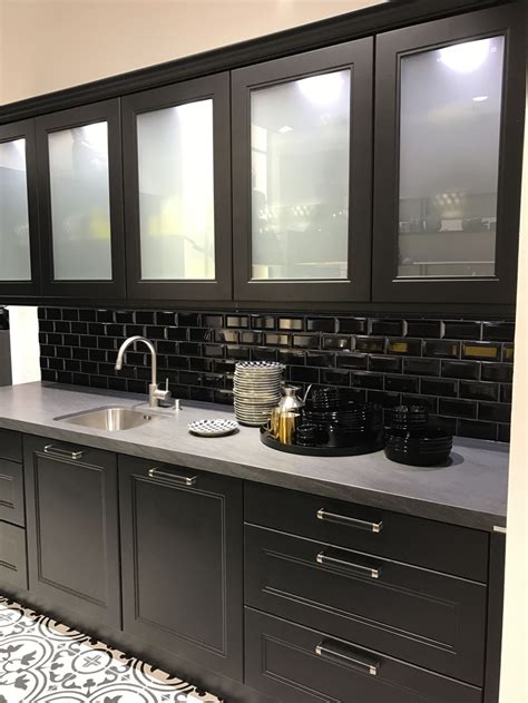 black glass kitchen cabinet doors all the cool characteristics of modern kitchen cabinets 7873