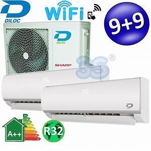 Climatiseur Bi Split : 3s climatiseur multi bi split diloc wifi 9000 9000 btu ~ Dallasstarsshop.com Idées de Décoration