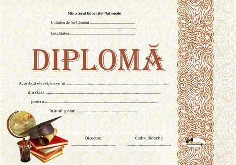 Diploma Format by Diploma Format A4 Model Imagine Toca Ls 2019