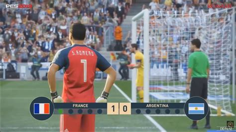 pes 2019 penalty shootout gameplay argentina vs ps4 pro xbox one x pc