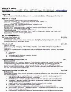 Dba administrator resume
