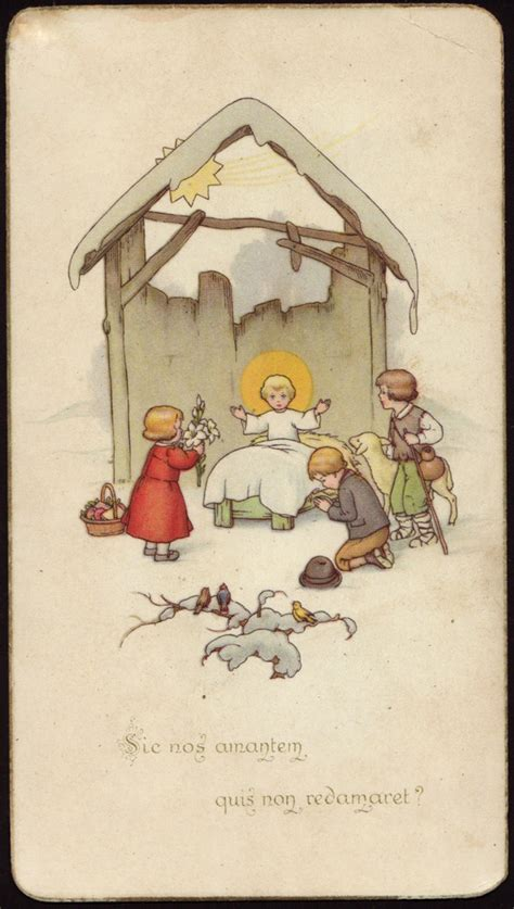 holy cards  children nativity