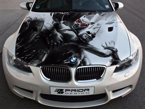 Vinyl Car Hood Full Color Graphics Decal Batman And