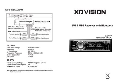 xd107 car entertainment system user manual xd107 mu cdr hopwell electronics