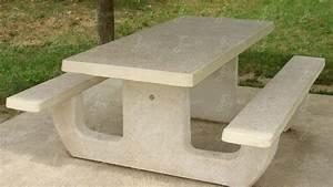 Table Picnic Bois Pas Cher : tables de pique nique ensemble pique nique en b ton arm ~ Melissatoandfro.com Idées de Décoration