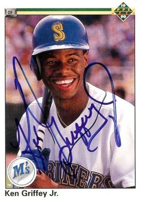 ken griffey jr autographed baseball cards