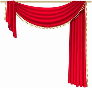 Red curtain transparent png clip art image png jpg for White stage curtains png