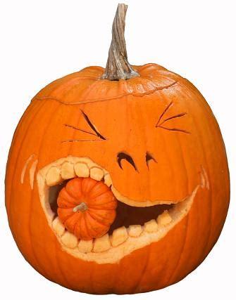geschnitzte kuerbisse kuerbisgesichter zu halloween