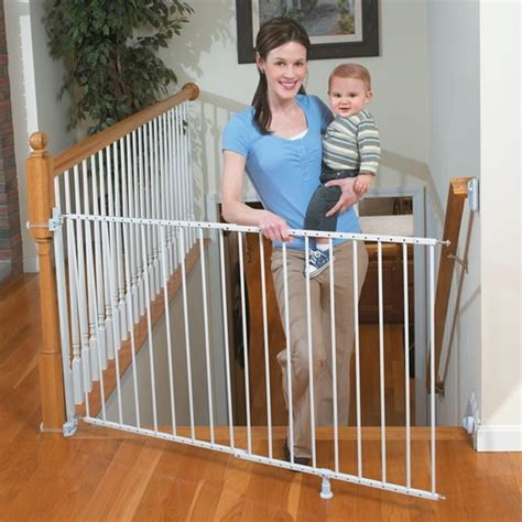 gate for stairs with banister summer infant sure secure top of stairs gate