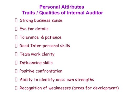 Personal Qualities For by Z 3d 2 Quality Auditors Skills Attributes