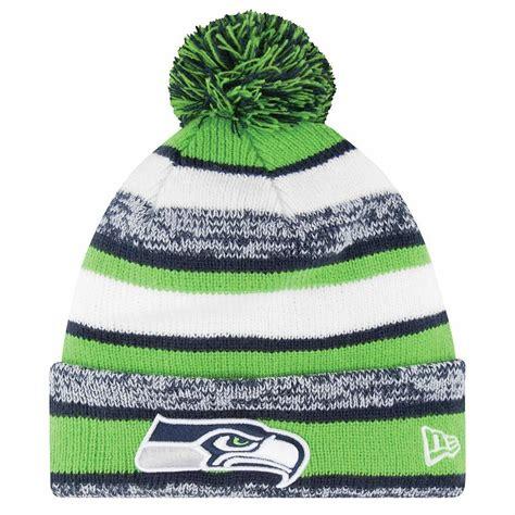 nfl  era seattle seahawks  field sport knit hat