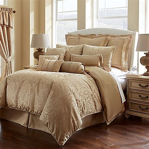 Waterford® Linens Lynath Reversible Comforter Set In Gold