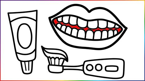 Toothbrush And Toothpaste Coloring Page Toothbrush And Toothpaste Coloring Page 7461