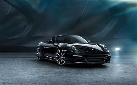 porsche boxster black edition wallpaper hd car