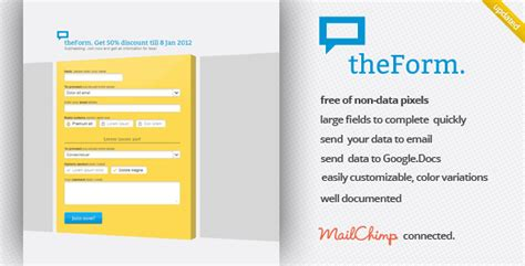 theform html sign up subscribe survey landing by