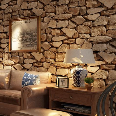 3d Wallpapers For Living Room In by Vintage 3d Stereo Brick Wallpaper Rock Wallpaper Imitated