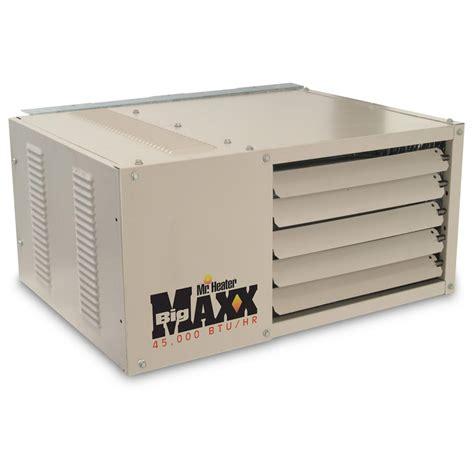 gas garage heaters mr heater 174 garage shop series 45 000 btu gas