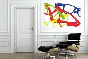 Tableau Salon Design : tableau d co lunettes design color es ~ Teatrodelosmanantiales.com Idées de Décoration