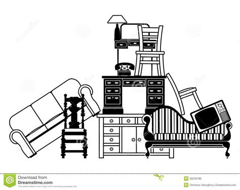 pile of furniture royalty free stock image image 30233786