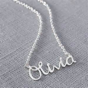 Silver Necklace with Name