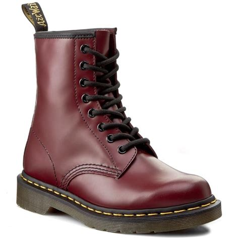 glany dr martens   cherry red smooth glany kozaki  inne damskie eobuwiepl
