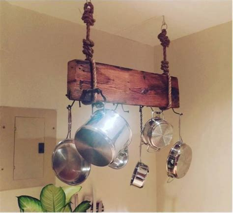 wooden pot racks 12 diy pot rack projects to save space in your kitchen