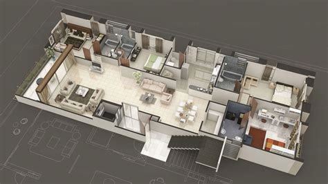 realism  isometric views  floor house plans
