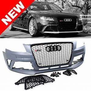 09 S4 B8 Rs4 Style Front Bumper Conversion Kit