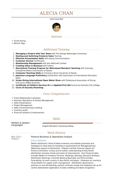 operations analyst resume sles visualcv resume