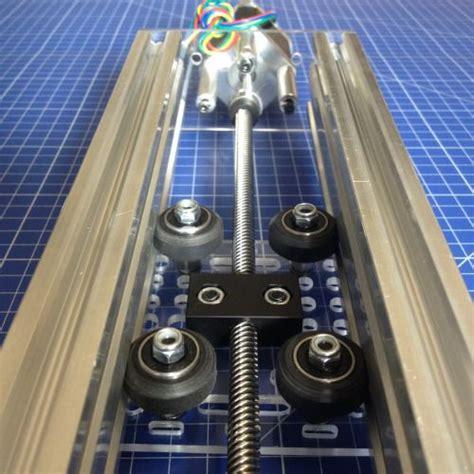 cnc slot linear actuator diy mount stepper router gantry plate motor plates rail prototype rails aluminum nema17 axis maker either