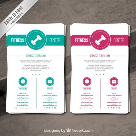 Training Catalog Template Free by Fitness Brochure Template Vector Free Download