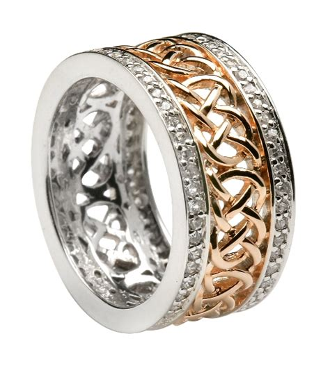 celtic wedding rings silver