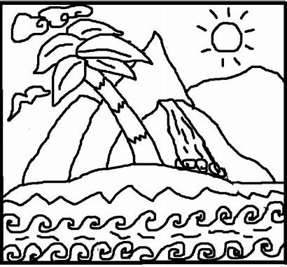 Meditation Coloring Island Paradise Pages Therapy Adult