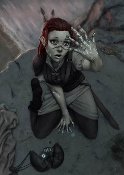 Fantasy Woman Futuristic Future Deviantart Character Cyberpunk